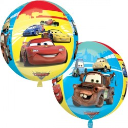 helium filled disney cars orbz balloon from cardiff balloons