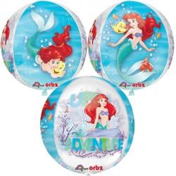 helium filled disney the little mermaid bubble balloon from cardiff balloons