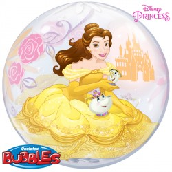 helium filled disney belle bubble balloon from cardiff balloons