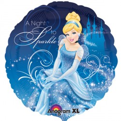 helium filled disney cinderella foil balloon from cardiff balloons