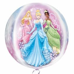 helium filled disney princess bubble balloon from cardiff balloons