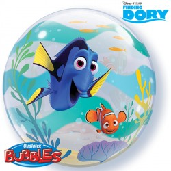 helium filled finding dory bubble balloon from cardiff balloons
