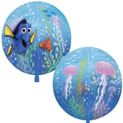 helium filled finding dory orbz balloon from cardiff balloons