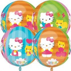 helium filled hello kitty orbz balloon from cardiff balloons
