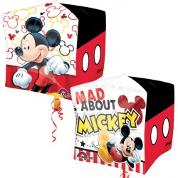 helium filled mickey mouse cubez balloon from cardiff balloons
