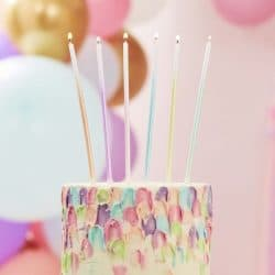 Extra Long Pastel Ombre Cake Candles