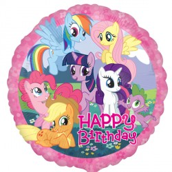 helium filled my little pony happy birthday foil balloon from cardiff balloons
