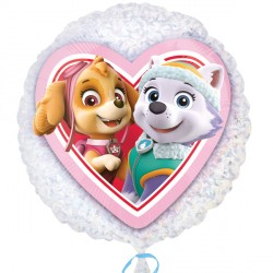 helium filled paw patrol skye & everest foil balloon from cardiff balloons