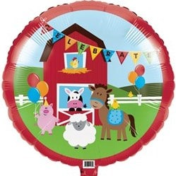 helium filled farmyard foil balloon from cardiff balloons