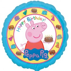 helium filled peppa pig happy birthday foil balloon from cardiff balloons