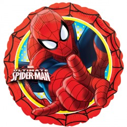 helium filled ultimate spiderman foil balloon from cardiff balloons