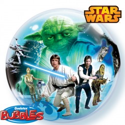 helium filled star wars bubble balloon from cardiff balloons
