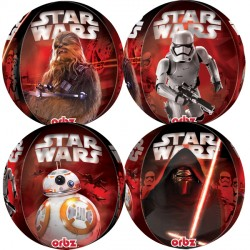 helium filled star wars episode vii orbz balloon from cardiff balloons