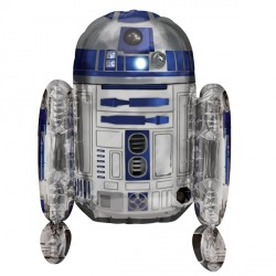 large helium filled star wars r2d2 foil balloon from cardiff balloons