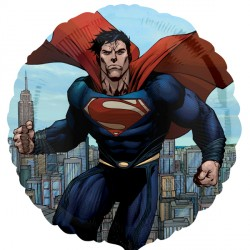 helium filled superman foil balloon from cardiff balloons