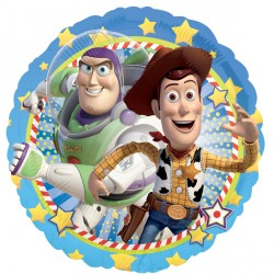 helium filled toy story 4 woody and buxx foil balloon from cardiff balloons