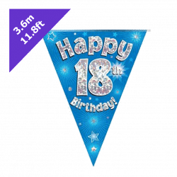 blue 18th birthday bunting from cardiff balloons