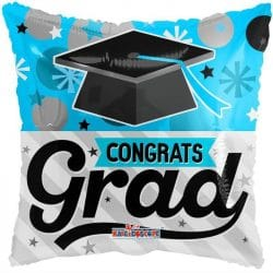 helium filled congrats grad foil balloon from cardiff balloons