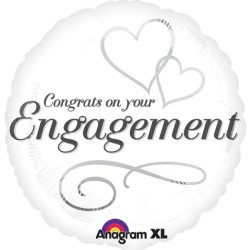 helium filled congrats on your engagement foil balloon from cardiff balloons