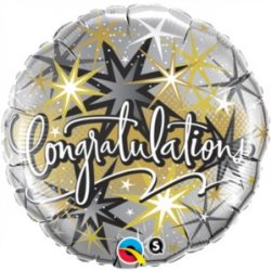 helium filled congtatulations foil balloon from cardiff balloons