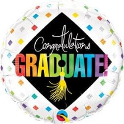 helium filled congratulations graduate foil balloon from cardiff balloons