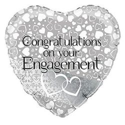 helium filled congratulations on your engagement foil balloon from cardiff balloons