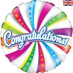 helium filled congratulaions foil balloon from cardiff balloons