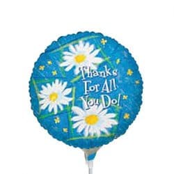 helium filled thanks for all you do foil balloon from cardiff balloons