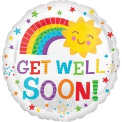 helium filled get well soon foil balloon from cardiff balloons