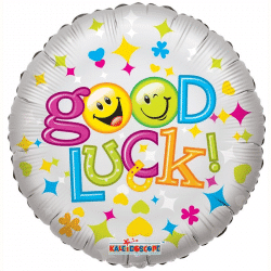 helium filled good luck foik balloon from cardiff balloons