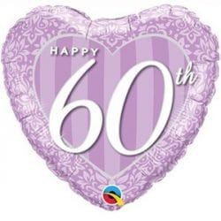 helium filled 60th anniversary foil balloon from cardiff balloons
