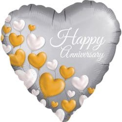 helium filled happy anniversary foil balloon from cardiff balloons