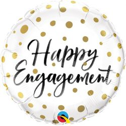 helium filled happy engagement foil balloon from cardiff balloons