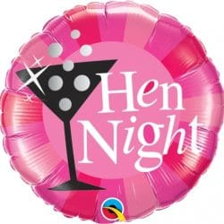 helium filled hen night foil balloon from cardiff balloons