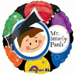helium filled y smarty pants graduation foil balloon from cardiff balloons