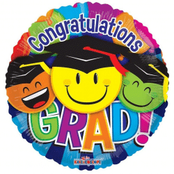 helium filled congratulations grad foil balloon from cardiff balloons