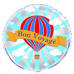 helium filled bon voyage foil balloon from cardiff balloons