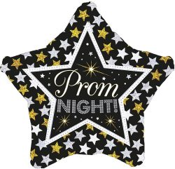 helium filled prom night foil balloon from cardiff balloons