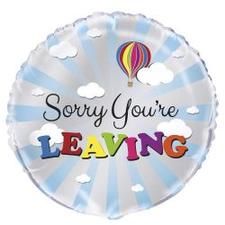 helium filled sorry you're leaving foil balloon from cardiff balloons