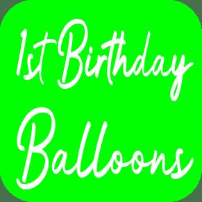 1st Birthday Balloons from Cardiff Balloons
