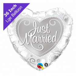 helium filled large silver heart foil balloon from cardiff balloons