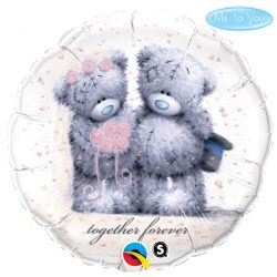 helium filled tatty teddy together forever foil balloon from cardiff balloons