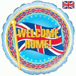 helium filled welcome home union jack foil balloon from cardiff balloons