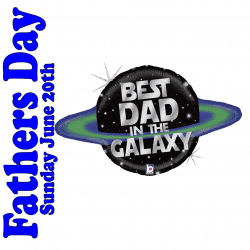 Best Dad In The Galaxy Foil Balloon From Cardiff Balloons