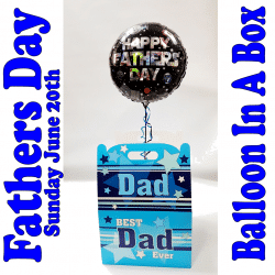 Fathers Day Balloon In A Box From Cardiff Balloons