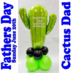 Fathers Day Cactus Balloon From Cardiff Balloons