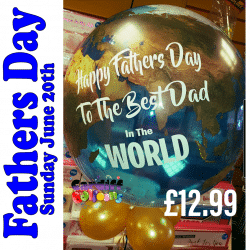 Best Dad In The World Balloon from Cardiff Balloons