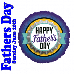 Happy Fathers Day Foil Bottle Cap Balloon