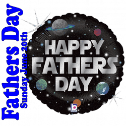 Happy Fathers Day Planets Foil Balloon