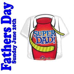 Large Super Dad Foil Balloon From Cardiff Balloons